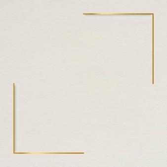 Gold frame on beige background