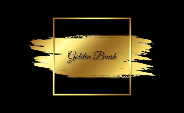 Кисть с золотой оправой
