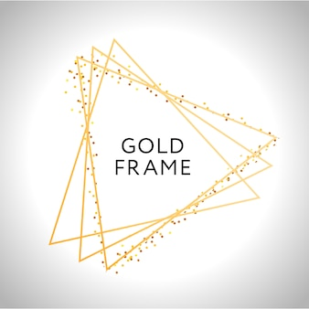 Gold frame decor isolated vector shiny gold metallic gradient border