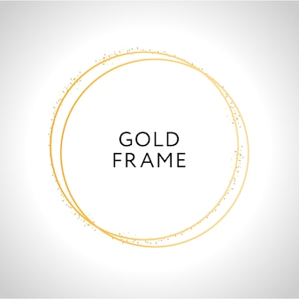 Gold frame decor
