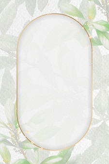 Cornice dorata su sfondo fogliame