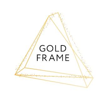 Gold frame geometric shape minimalism vector design