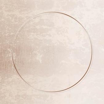 Gold frame on grunge background