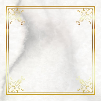 Gold Frame On Marble Background