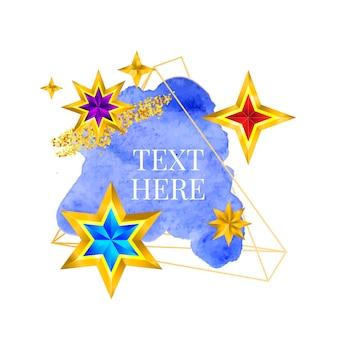 Золотая рамка краска ручная роспись вектор мазок кистью идеальный дизайн для заголовка логотипа и рекламного баннера с ...