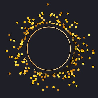 Gold frame round minimalism