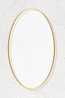 Vettore di cornice dorata su sfondo bianco con texture texture