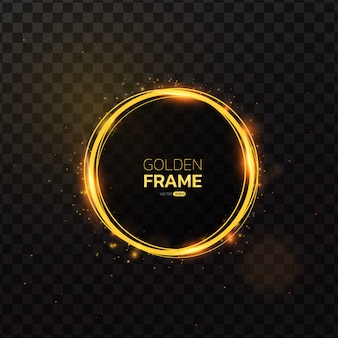 Gold frame with light effect.