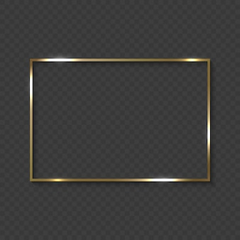 Gold frame with shiny borders
