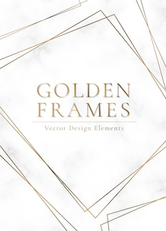 Gold framed background