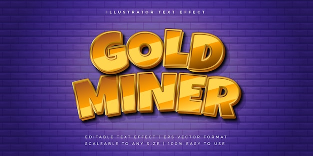 Gold gaming title text style font effect