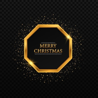 Gold geometric frames for christmas christmas and new year card