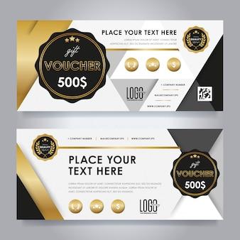 Gold gift voucher set