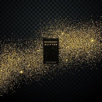 金色の輝きの背景の星の塵の輝きの輝き