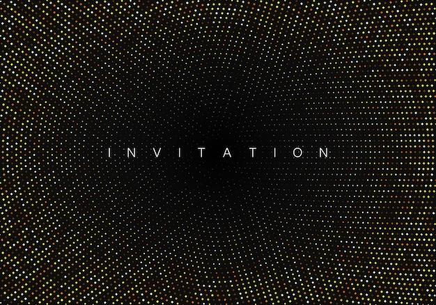 Gold glitter on black background festive shiny background vector eps10