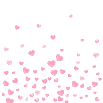 Gold glitter confetti with dots, invitation template