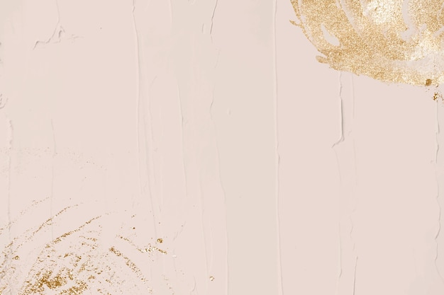 Gold glitter decorated pastel texture background