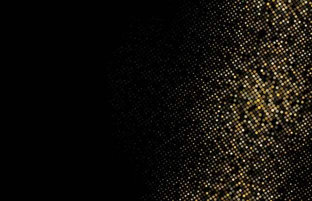 Gold glitter halftone dotted background