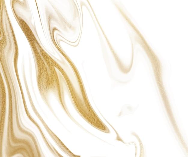 Текстура жидких чернил золотой блеск.