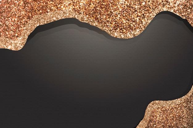 Gold glitter paint on black