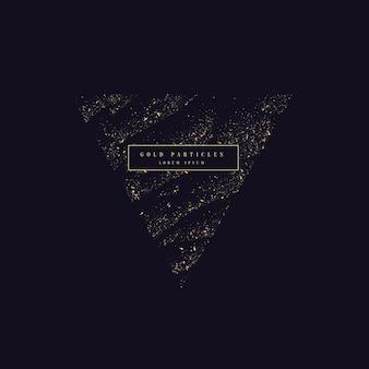 Золотой блеск. блестящие частицы на темном фоне. векторная иллюстрация