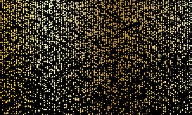 ゴールドラメの質感。黄金の抽象的な粒子。