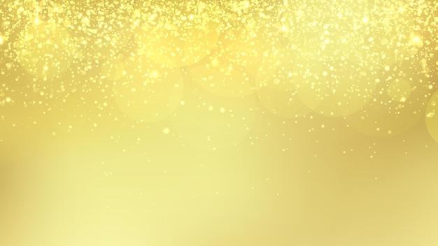 ゴールドのキラキラベクトルの背景。コピースペース付きのクリスマスとお祝いの背景テンプレート。