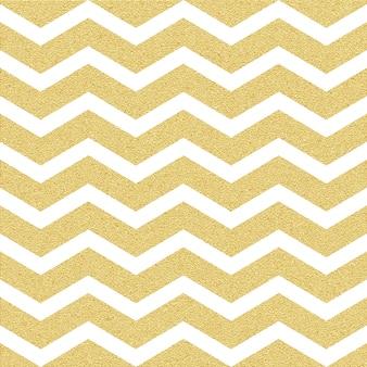 Gold glittering chevron wave seamless pattern. classic zigzag template.
