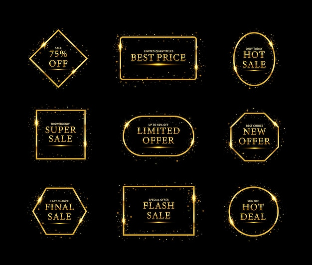 골드 빛나는 프레임 판매 할인 판매 최고의 가격 새로운 제안