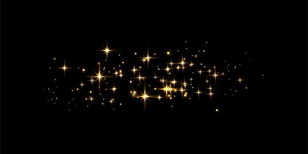 Золотые сверкающие формы огней. абстрактное понятие для вашего дизайна. векторная иллюстрация.