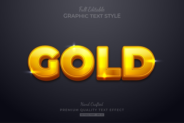 Gold glow editable text effect