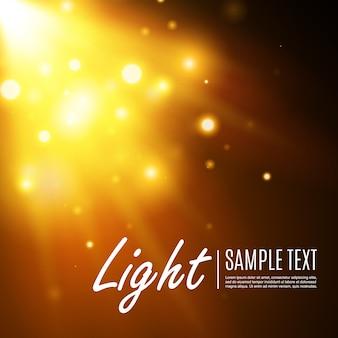 골드 글로우 입자 bokeh. 반짝이는 효과. 황금빛 반짝 반짝 빛나는 별과 별. 반짝이 입자의 축제 그림입니다. 불 별 투명에 고립입니다.
