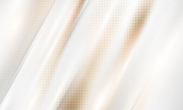 골드 그라데이션 크롬 색상 하프톤 질감 배경입니다. 벡터 황금, 구리 황동 및 금속 템플릿입니다.
