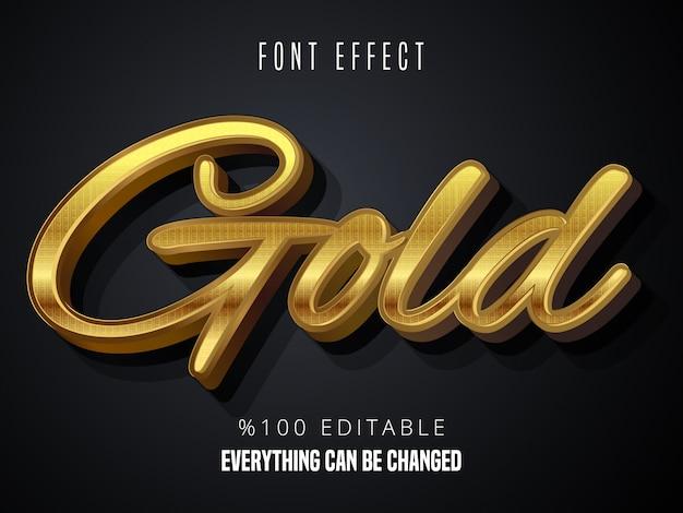 Gold gradient font effect