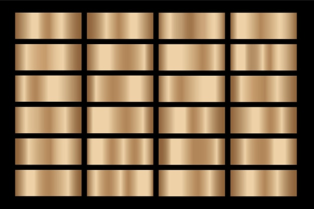 Gold gradient set background