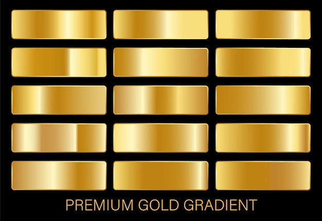 Gold gradients template