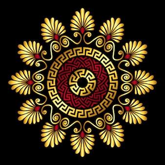 Gold greek ornament meander