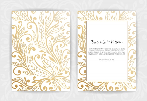 Gold greeting card on black