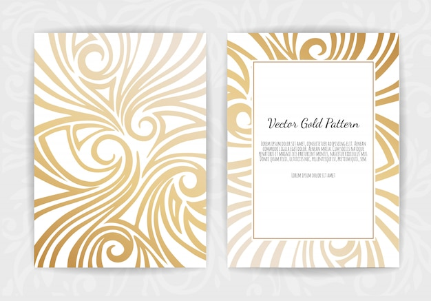Gold greeting card on black