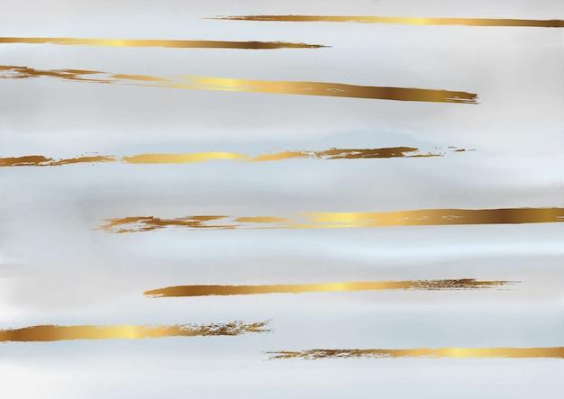 Sfondo acquerello decorativo oro e grigio