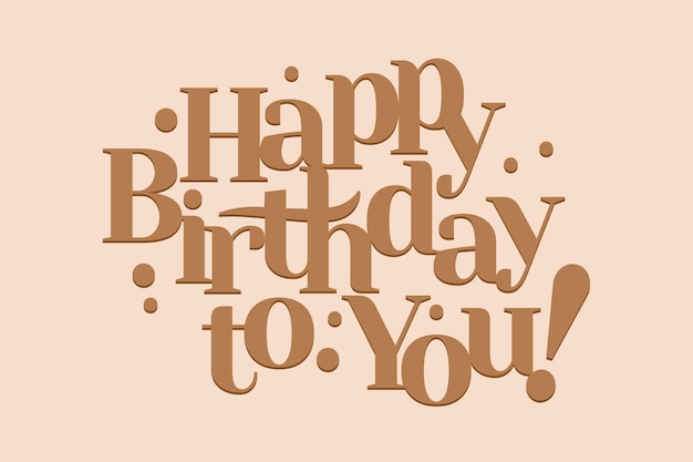 Gold happy birthday to you card