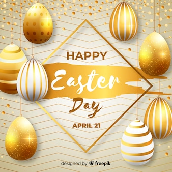 Gold happy easter day background