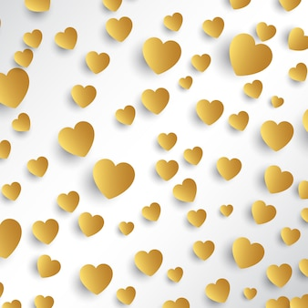 Gold hearts background