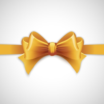 Gold holiday ribbon with bow