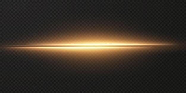 골드 수평 렌즈 플레어 팩 레이저 광선 수평 광선 png 효과 라이트 골드