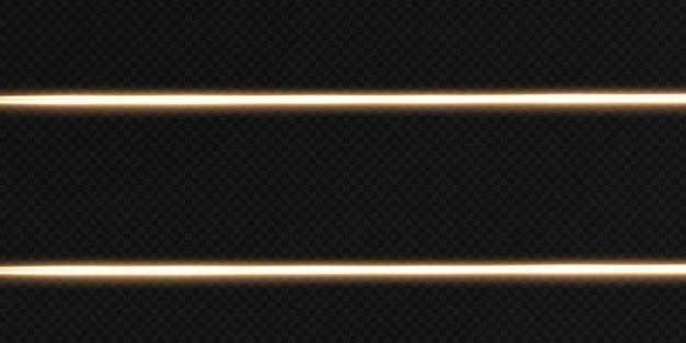 Gold horizontal lens flares pack