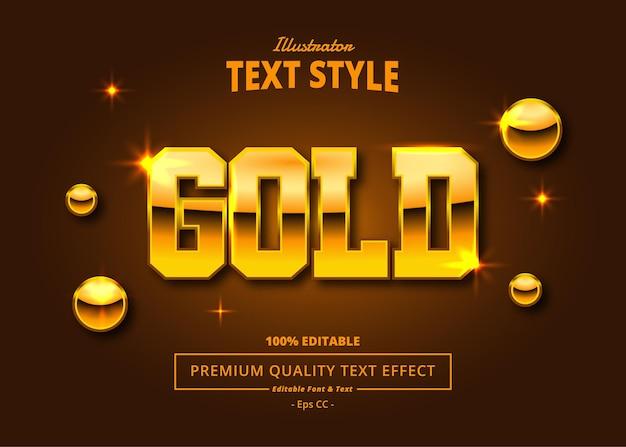 Gold illustrator text effect