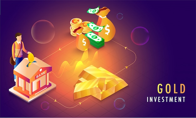 Gold investment concept.
