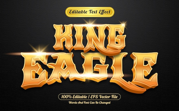 Gold king eagle editable text effect template style