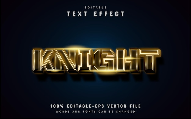 Gold knight text effect
